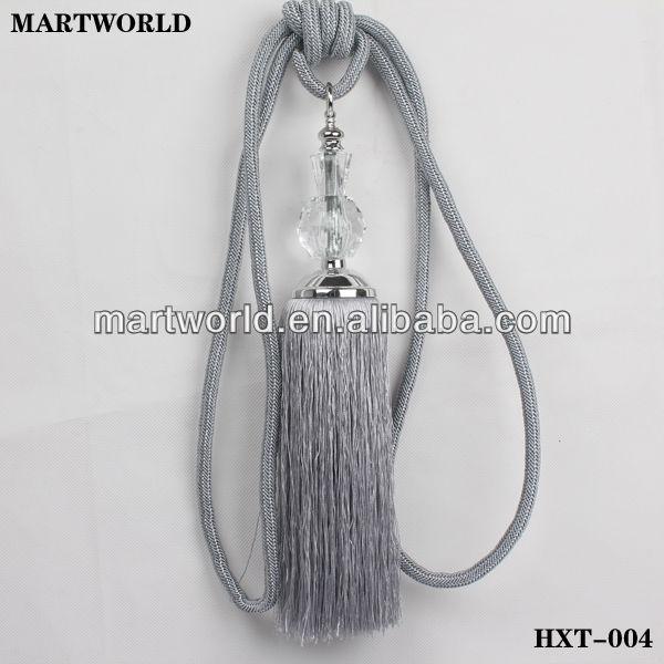 grey beads curtain tie back tassel hxt 004 buy tie back tassel chair tie glass bead tassel product on alibaba com