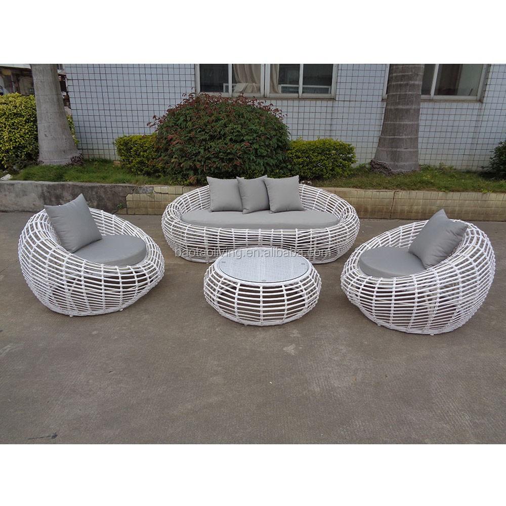 round patio sofa furniture white garden sofa furniture plastic resin rattan loveseat buy white rattan outdoor furniture living room furniture rattan