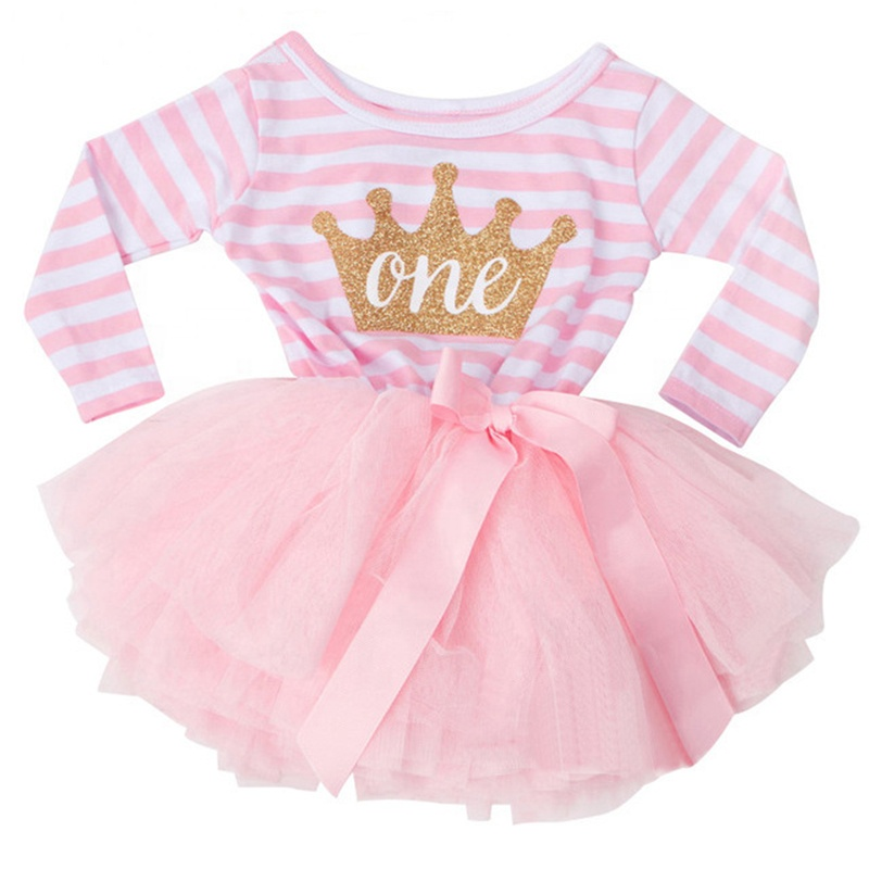 Hot Selling Outfit Girl Pink And Gold First Birthday Dress Buy Baby Autumn Clothes Birthday Dress 1 Years Old Girl 12 Month Old Girl Clothes Product On Alibaba Com