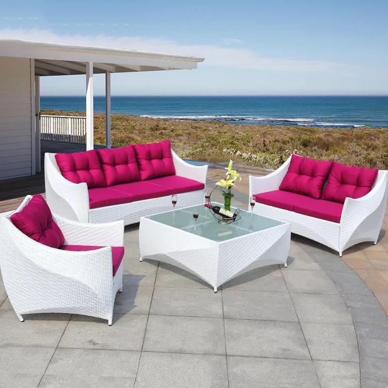 garden design white rattan patio wicker outdoor furniture sofa with cushion buy outdoor furniture sofa garden furniture rattan sofa product on