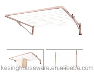 folding foldable wall mount clothes drying rack galvanized steel foldable laundry hanger rotary dryer buy foldable wall mount clothes drying