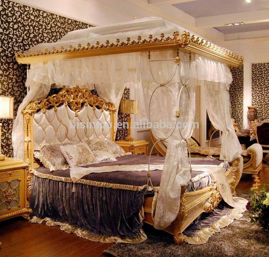 luxury french rococo style wood carved marquetry canopy bed royal four poster king size bed fancy european bedroom furniture buy wooden canopy