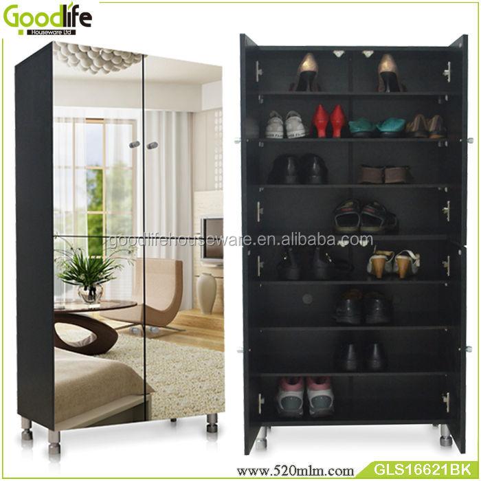 double door 8 layers big shoe cabinet with mirror from goodlife buy shoe racks modern shoe cabinet with mirror large shoe cabinet product on