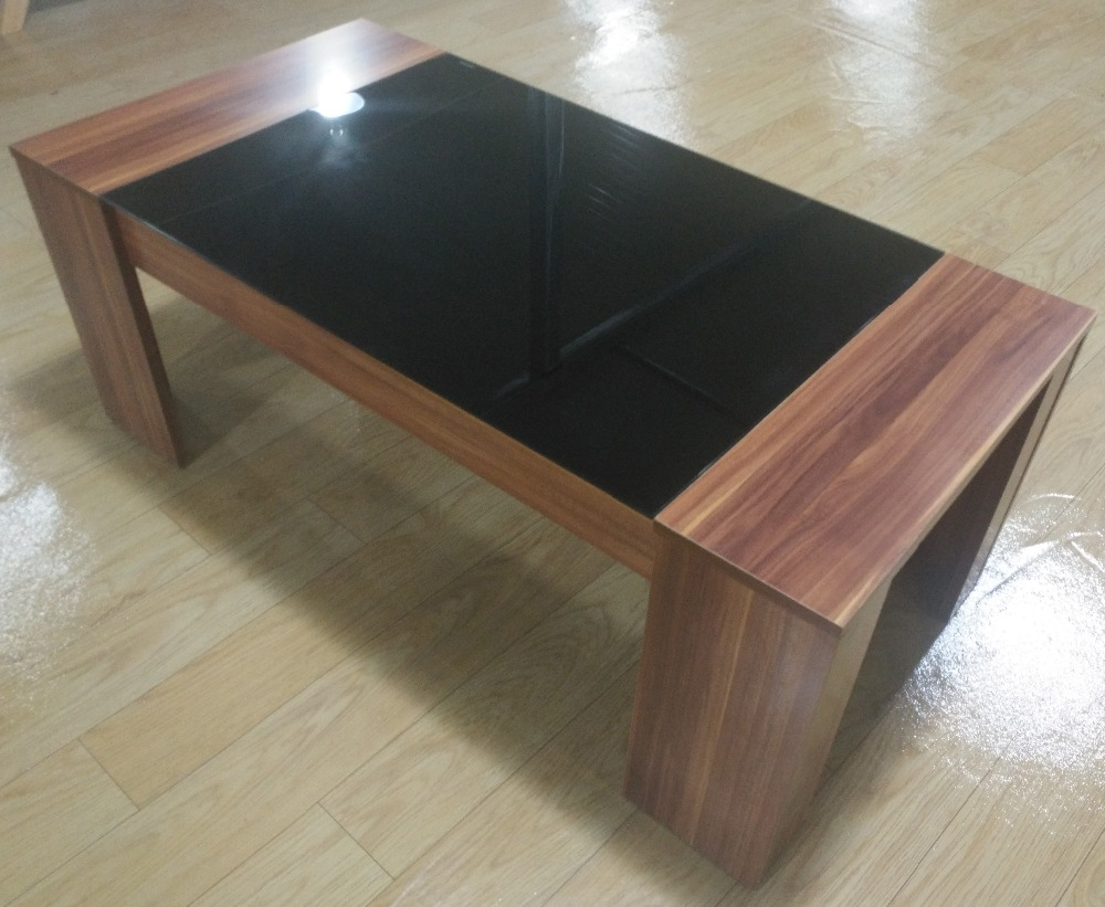 cheap living room center table design wooden tea table with glass top wholesale buy glass top wooden tea table modern design glass center table wood