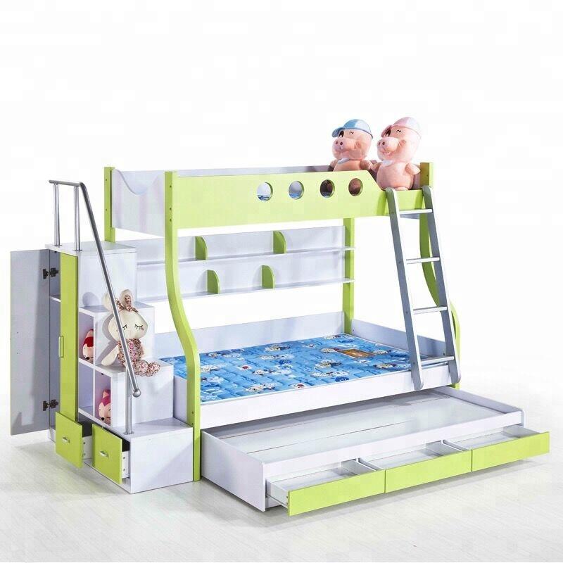 lit superpose en bois massif pas cher avec escalier mdf b02 buy lits superposes enfants avec escalier lit enfant avec toboggan lit superpose avec