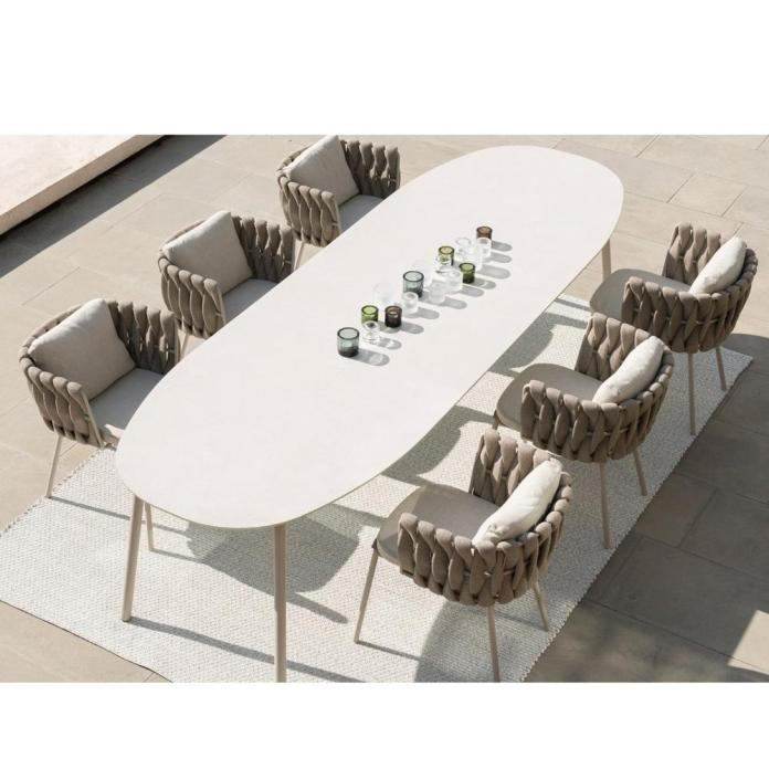 Ck204 Momoda Furnishing Modern Outdoor Furniture Garden Dining Table Set Dining Table Rope Chair Set View Outdoor Dining Table Chair Set Momoda Product Details From Foshan Momoda Furniture Co Ltd On Alibaba Com