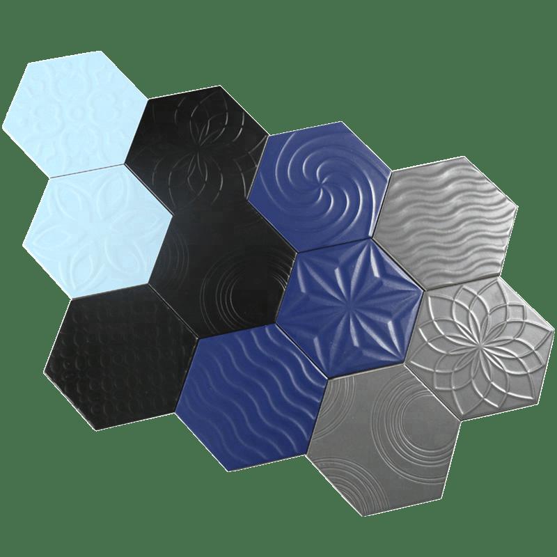 carrelage mural en ceramique hexagonal 3d bleu ciel tapisserie en relief 200x230 buy carrelage hexagonal carrelage mural en ceramique bleu
