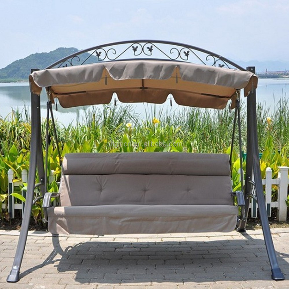 3 seater sweet hanging chair for home with flouncing cover patio swing with canopy buy patio swing with canopy hanging chair 3 seater product on