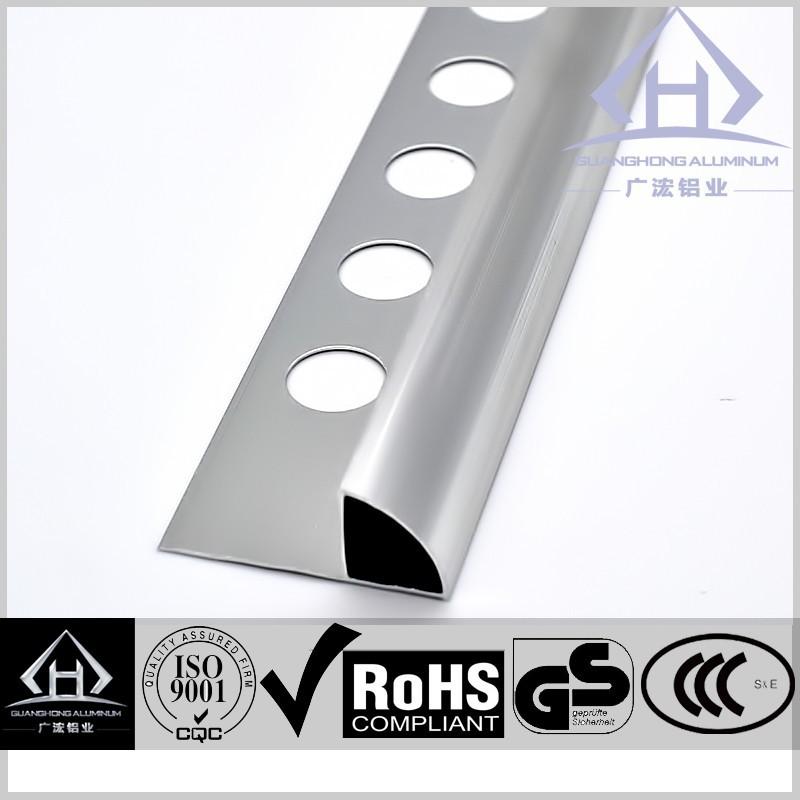 decorative aluminium edging metal tile trim