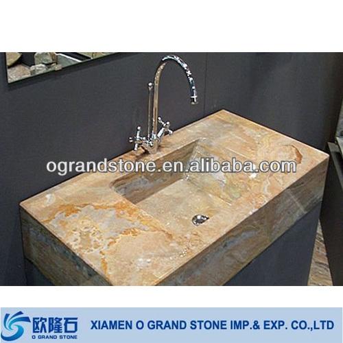 lavabo de salle de bains en marbre naturel vasque de couleur beige a poser sur le comptoir buy bassin en marbre lavabo en marbre lavabo en marbre