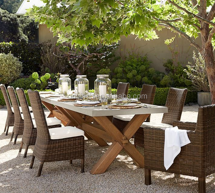 abbott outdoor patio zinc top rectangular fixed wooden dining table chairs buy table chairs dining table and chair wooden dining table and chairs