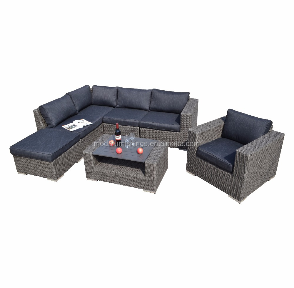 7pc hot sale all weather outdoor wicker patio and garden rattan sectional plastic wood table furniture sofa set buy outdoor furniture rattan patio