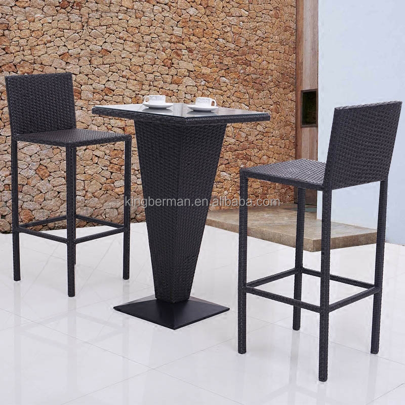 outdoor patio furniture rattan patio bar set high tables and bar stools buy outdoor patio furniture rattan patio bar set bar high table and chair