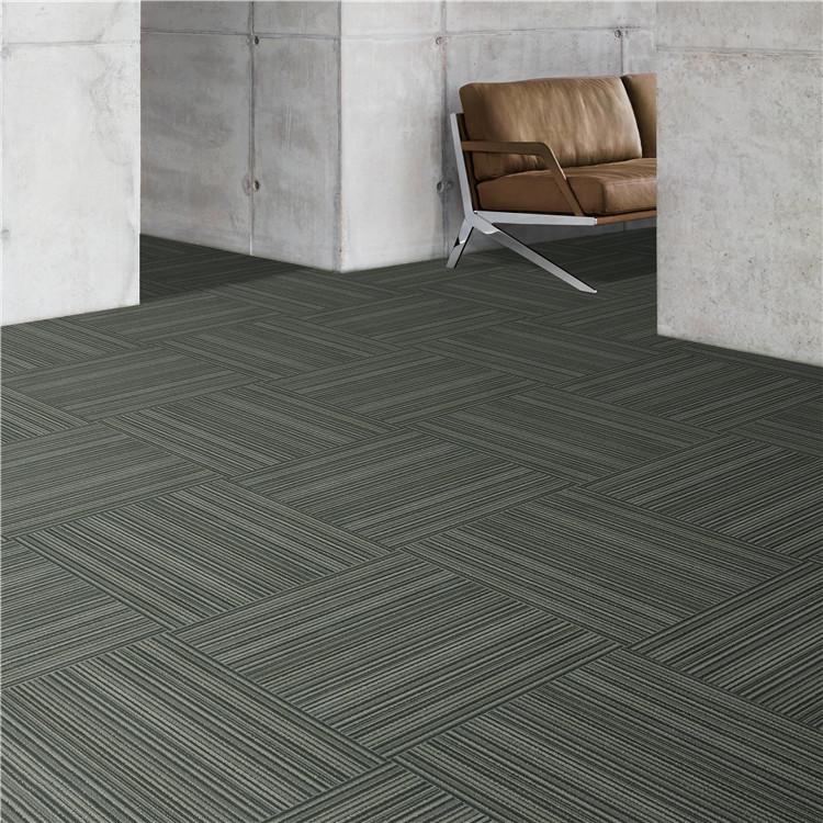 office pp loop pile stripe pattern 50x50cm square carpet tile buy carpet tile square pp loop pile stripe carpet carpet tiles 50x50 product on