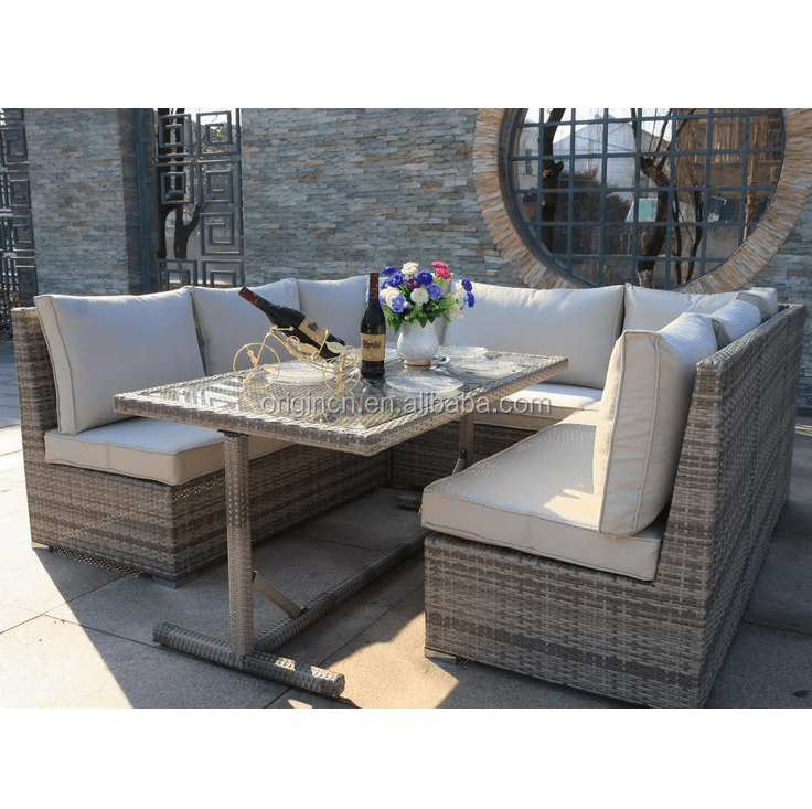 outdoor entertaining patio dining table and chairs furniture rattan corner sofa set buy rattan corner sofa set outdoor patio furniture dining