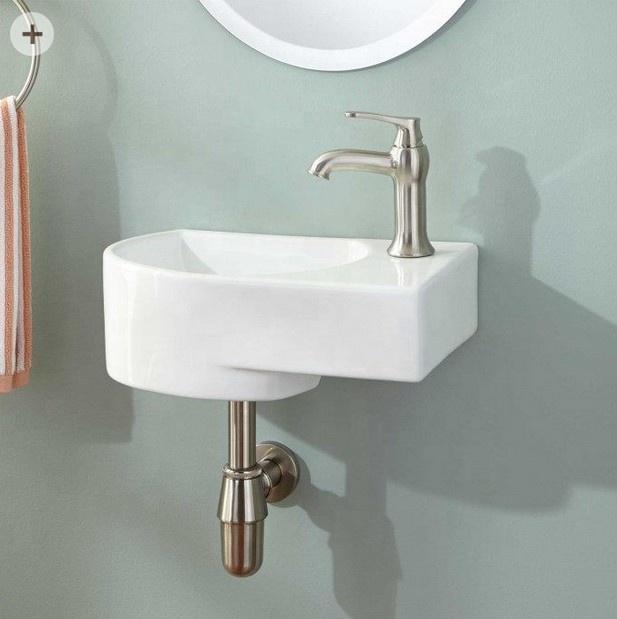 vitreous china small corner hand wash basin ceramic wall mounted bathroom sink buy left wall hung basin right wall hung basin corner hand wash basin