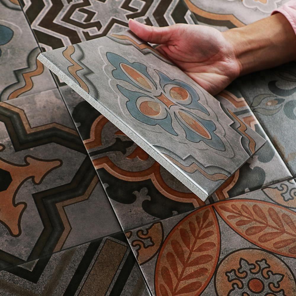 moroccan home decor 8x8 antique flower feature wall ceramic decorative floor cheap encaustic tiles buy encaustic tiles decorative floor tile 8x8