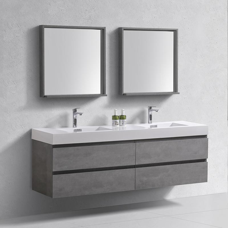 modern 60 inch modern moistureproof single sink melamine bathroom cabinet buy classic hotel wash basin dtc bath vanity china wall hung furniture