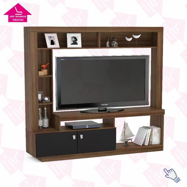 meuble tv en bois mdf design moderne avec vitrine pour le salon 1 piece buy meuble tv avec vitrine unites murales tv meuble tv product on