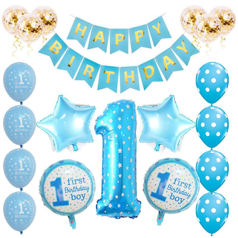 Boy Blue 1st Birthday Party Decorations Baby Girl 1st Happy Birthday Decoration Banner And Ballons Set Buy 1st Birthday Decorations Boy 1st Birthday Party Decoration Baby 1st Birthday Decoration Product On Alibaba Com