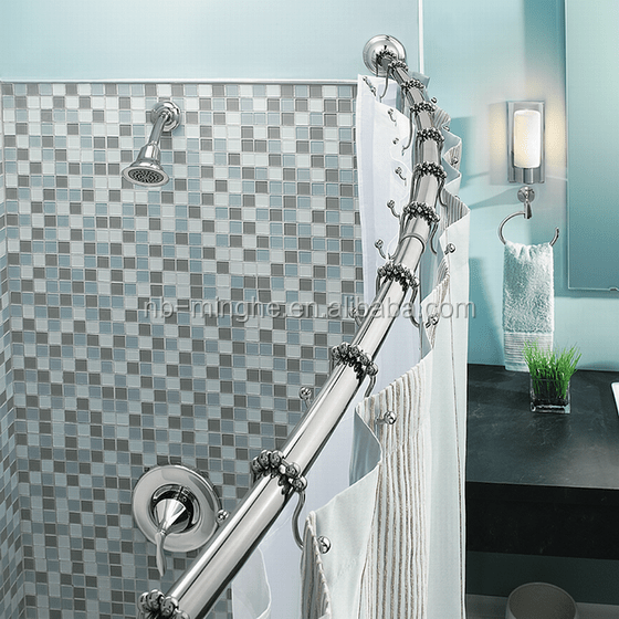 telescopic curved shower curtain rod buy curved shower curtain rod shower curtain rod telescopic shower curtain rod product on alibaba com