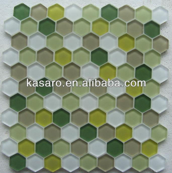 carrelage de mosaique hexagonal vert carreaux de salle de bain en mosaique hexagonale buy carreaux de mosaique hexagonaux carreaux de salle de bain