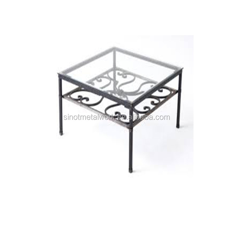 french decorative wrought iron coffee table base for glass top metal small table base for sale buy modern coffee table bases for glass
