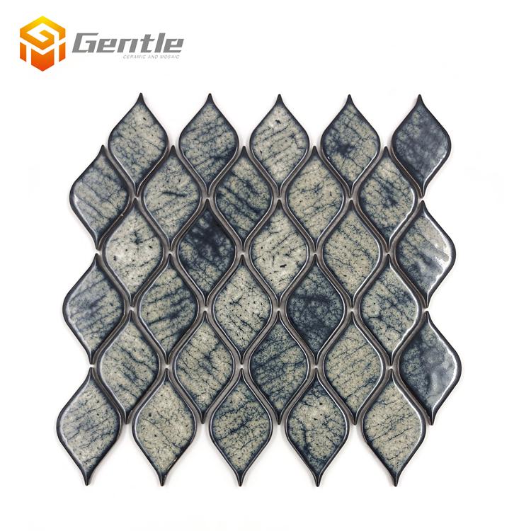 glazed mosaics non slip kitchen backsplash tiles price in malaysia agate design ceramic mixed color leaf shape mosaic tile buy leaf shape mosaic
