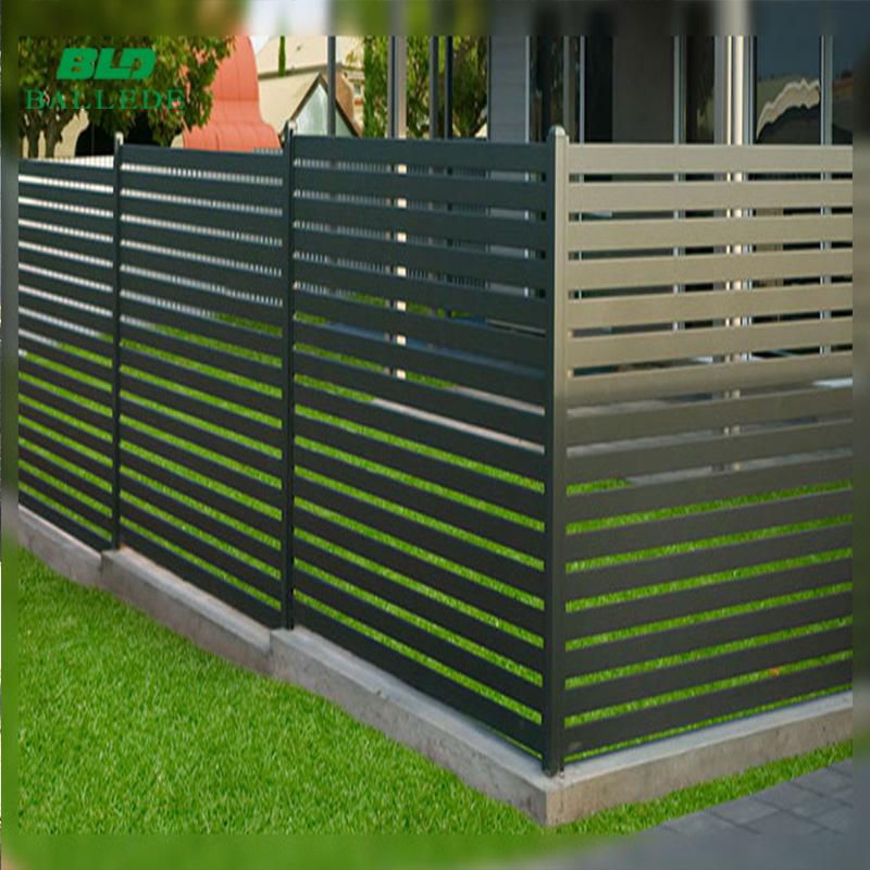 customized new design aluminum front yard slat fence buy fence slat fence front yard fence product on alibaba com