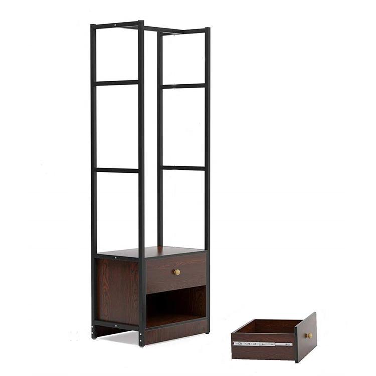 freestanding garment rack 2 drawers floor open wardrobe for small space buy open wardrobe freestanding garment rack 2 drawers floor wardrobe product