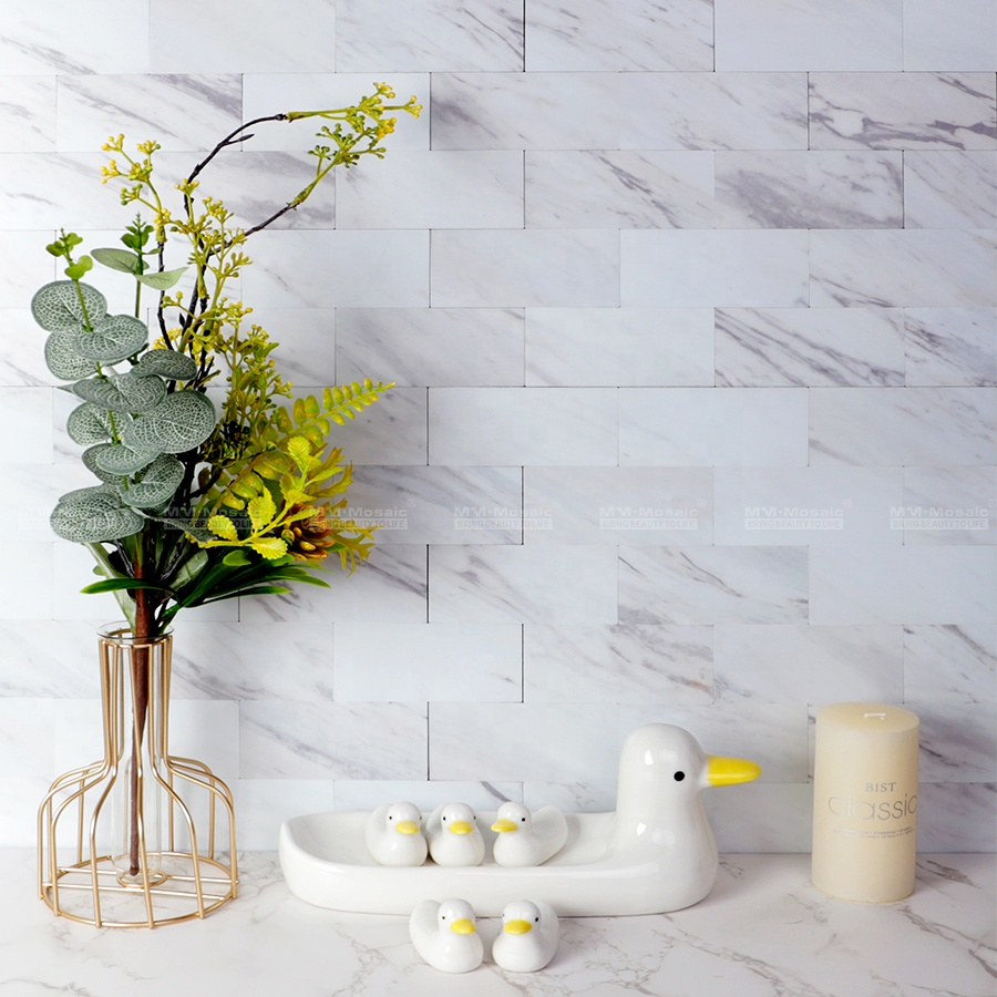 48 98mm self adhesive removable pvc marble grain subway stone peel and stick tile wall panels for kitchen backsplash diy project buy peel and stick wall panels stone peel and stick tile subway tile peel