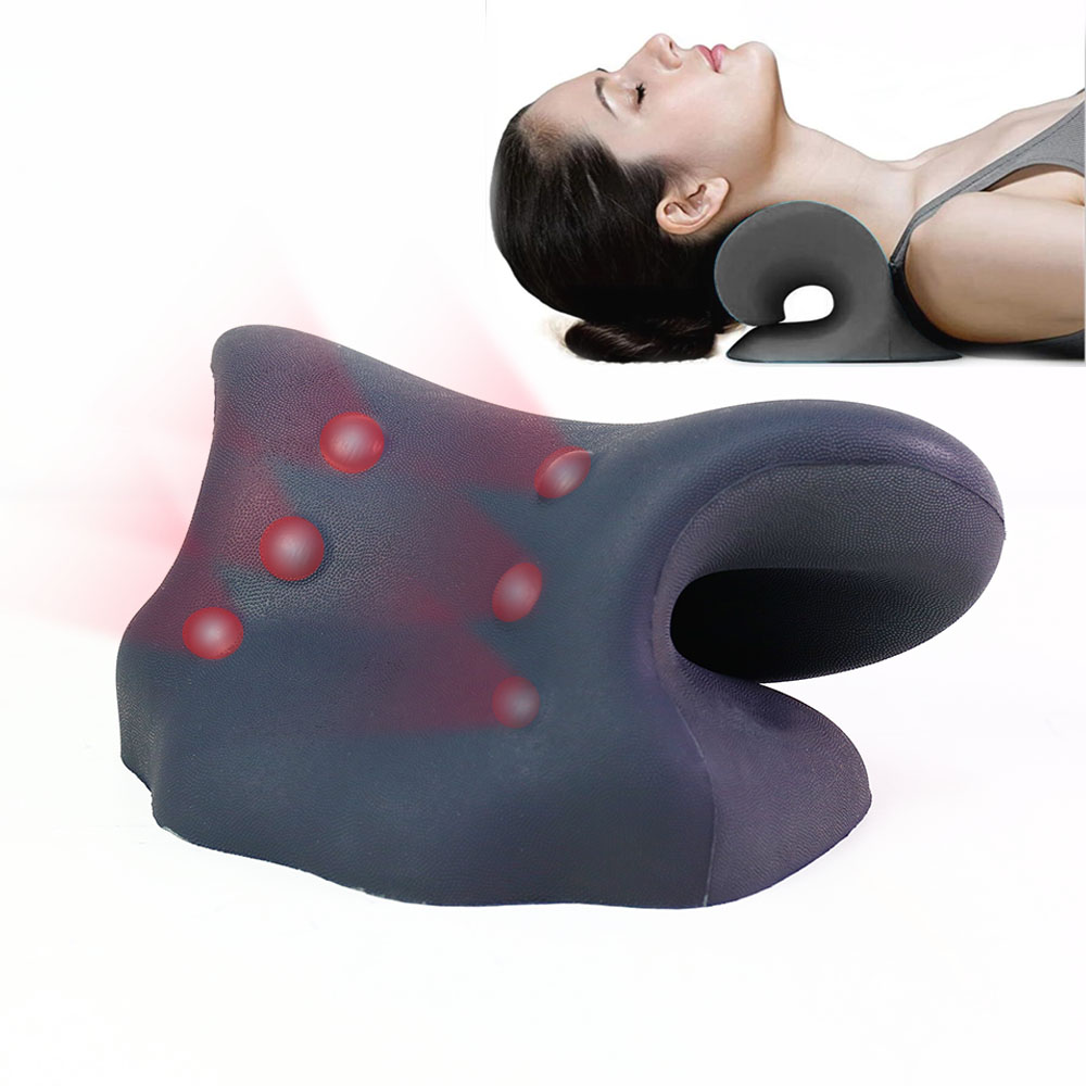 new design pain relax anti fatigue memory foam massage shoulders neck head sleeping support press relief neck traction pillow buy neck traction pillow neck traction sleeping pillow neck support pillow product on alibaba com