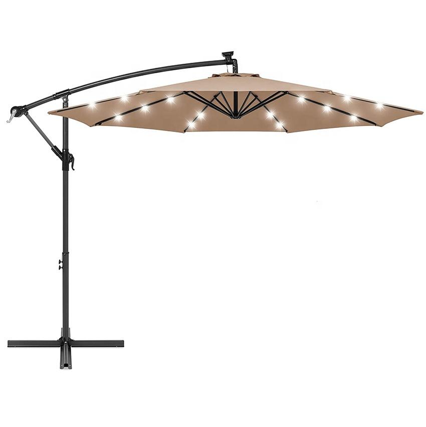 hot sale outdoor hanging solar led patio umbrella with lights buy patio umbrella with lights led patio umbrella hanging umbrella product on alibaba com