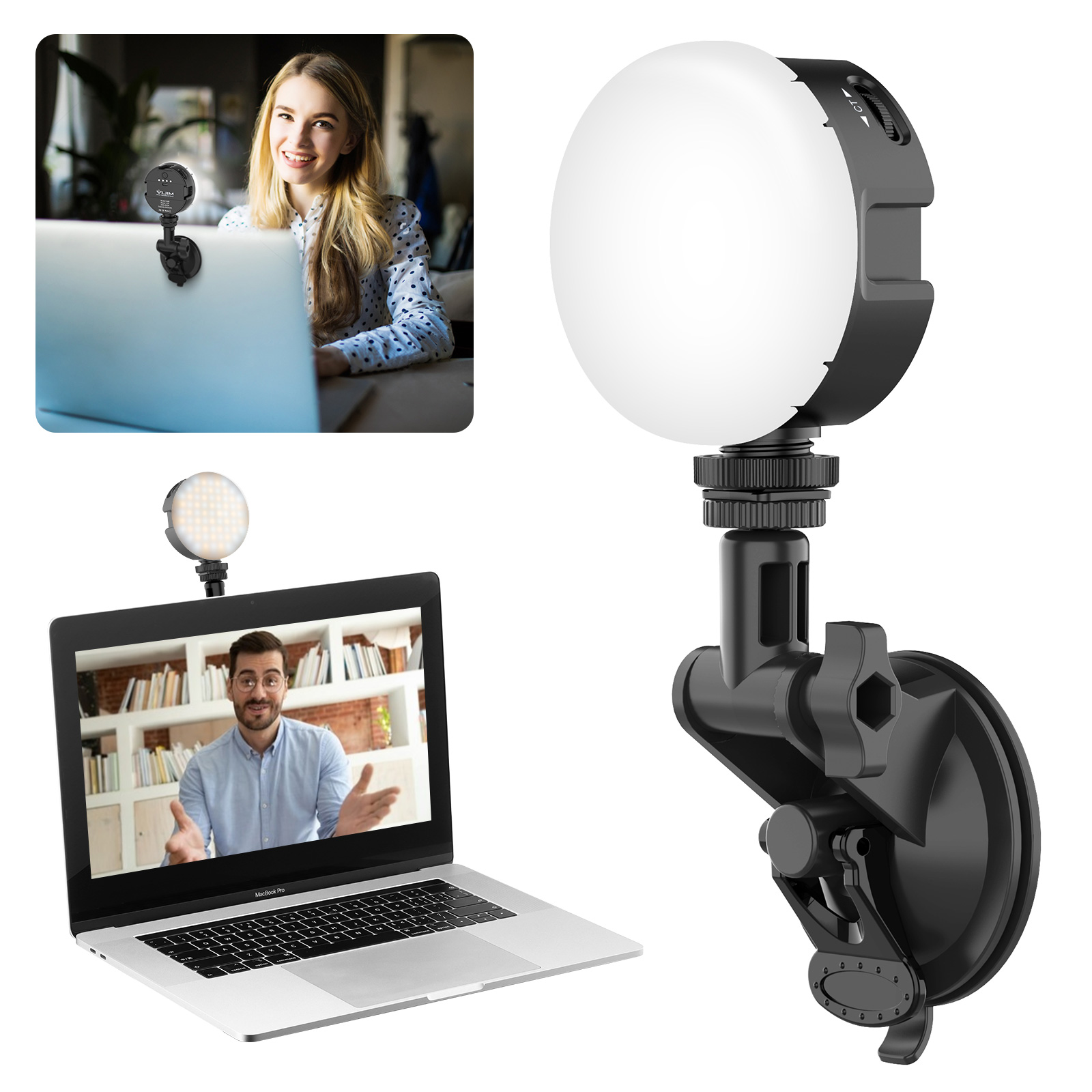 vijim vl69 laptop light kit with suction cup for video conference lighting buy video conference light kit video conference light and suction