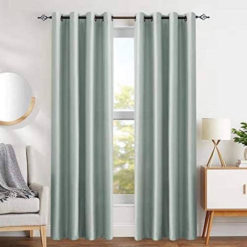 faux silk window curtains for living room 84 inch length dupioni curtain panels for bedroom grommet top window treatments light buy nice fabric