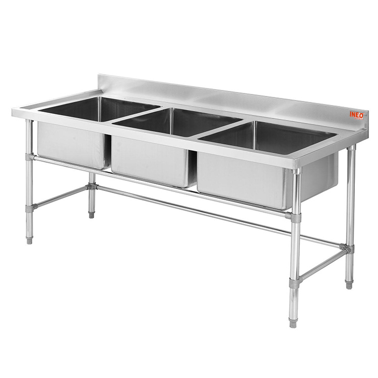 free standing restaurant commercial stainless steel industrial kitchen sink view industrial kitchen sink ineo product details from guangzhou ineo