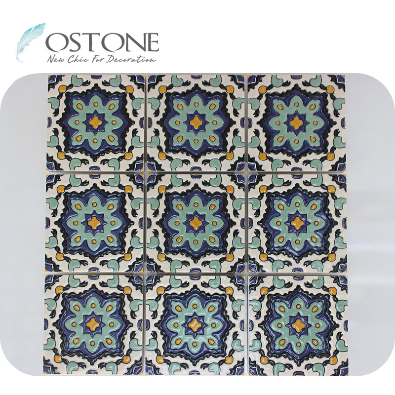 blue and green mixed colored flower ceramic tile for backsplash buy ceramic tile for backsplash ceramic backsplash tiles kitchen ceramic tile