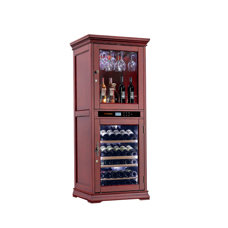furniture style wood wine cooler cabinet single cooling zone bar appliance free standing built in refrigerator wooden cellar buy wine cooler wine