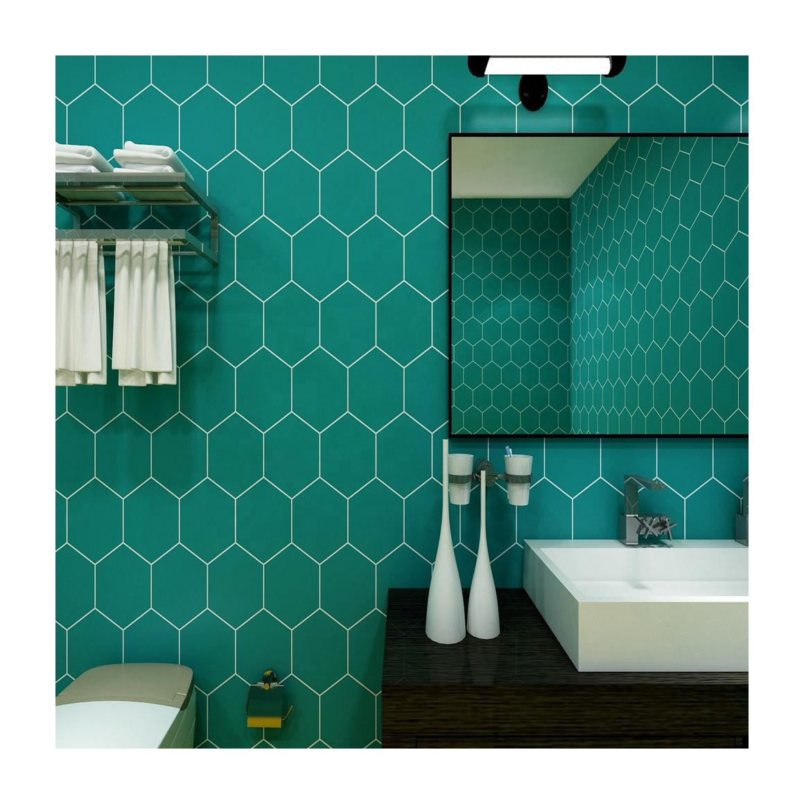 arabic style mosaic tile stickers for living room kitchen retro 3d waterproof mural decal bathroom decor diy adhesive wallpaper buy arabic style