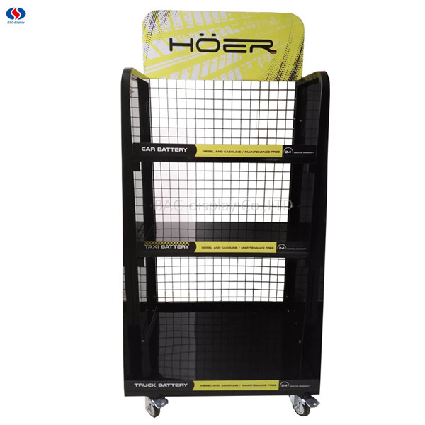 personalized 3 layer metal floor commercial batteries display automotive car battery storage rack buy car battery storage rack personalized