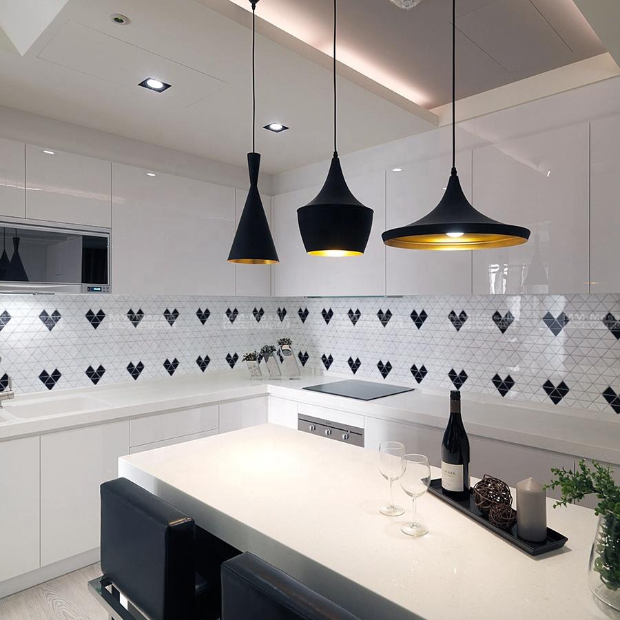 2 heart pattern decorative tiles wall mosaic black white for modern backsplash kitchen bathroom home decor buy tile wall mosaic black white modern