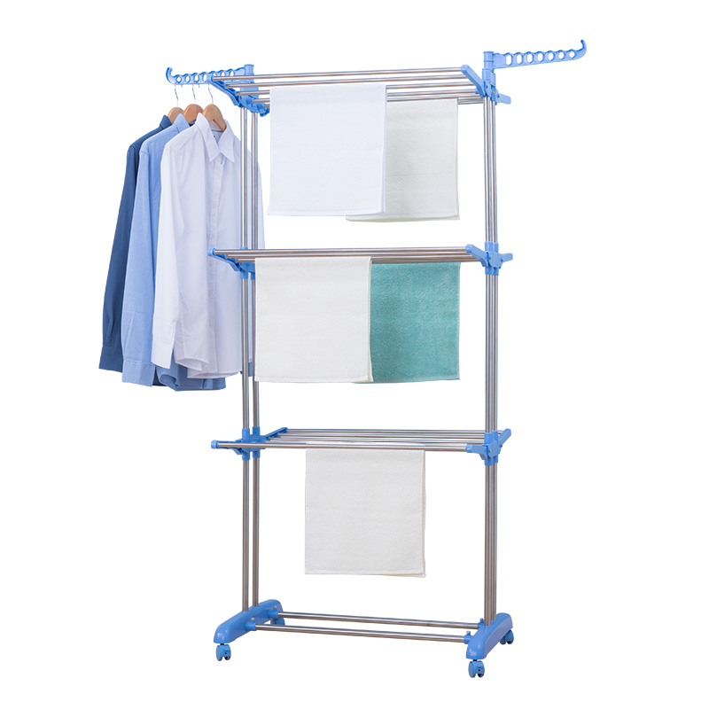 customized foldable 3 tier clothes drying collapsible laundry dryer hanger stand indoor outdoor cloth storage rack buy garment rack cloth hanger