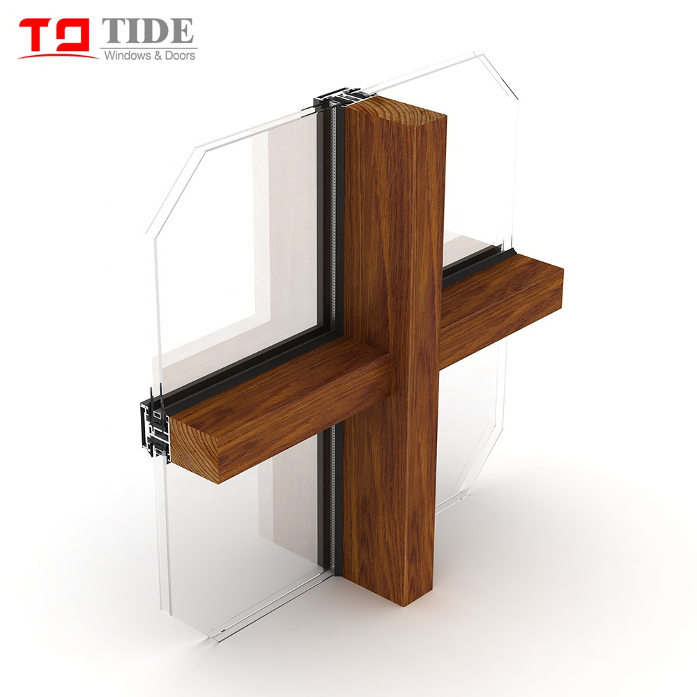 aluminum clad wood frame glass curtain wall with reflection glazed buy glass crutain wall reflection double glazed curtain wall aluminum clad wood
