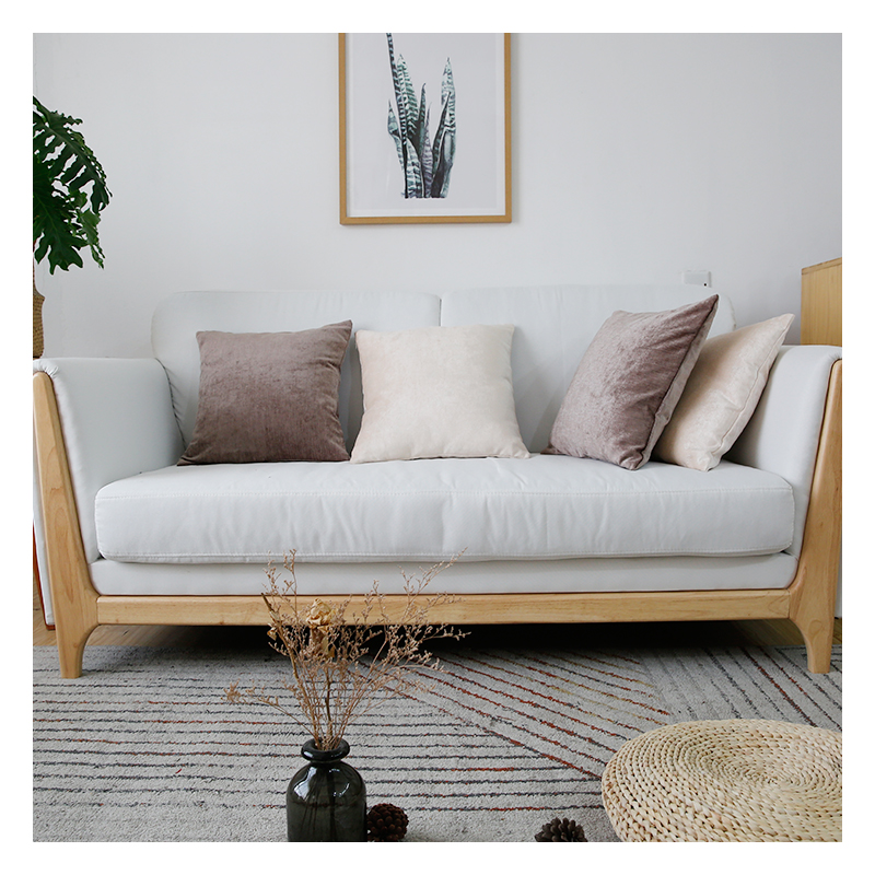 innermor chenille solid cushion cover soft pillow case modern decorative pillow cover for sofa bed car seat 45x45 ready made buy cushion cover pillow case chair cover decorative round pillow cover product on