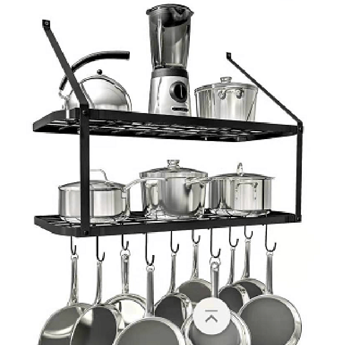 metal hanging cookware organizer rack hangers ceiling pot and pan for kitchen buy ceiling hanging rack rack for hanging pots and pans cookware