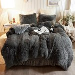 Luxury Plush Shaggy Ultra Soft Crystal Velvet Duvet Cover Fluffy Bed Sets Fluffy Bedding Set Buy Fluffy Bed Sets Fur Beddding Set Comforter Duvet Cover With Plush Fur Comforter Set Luxury Long