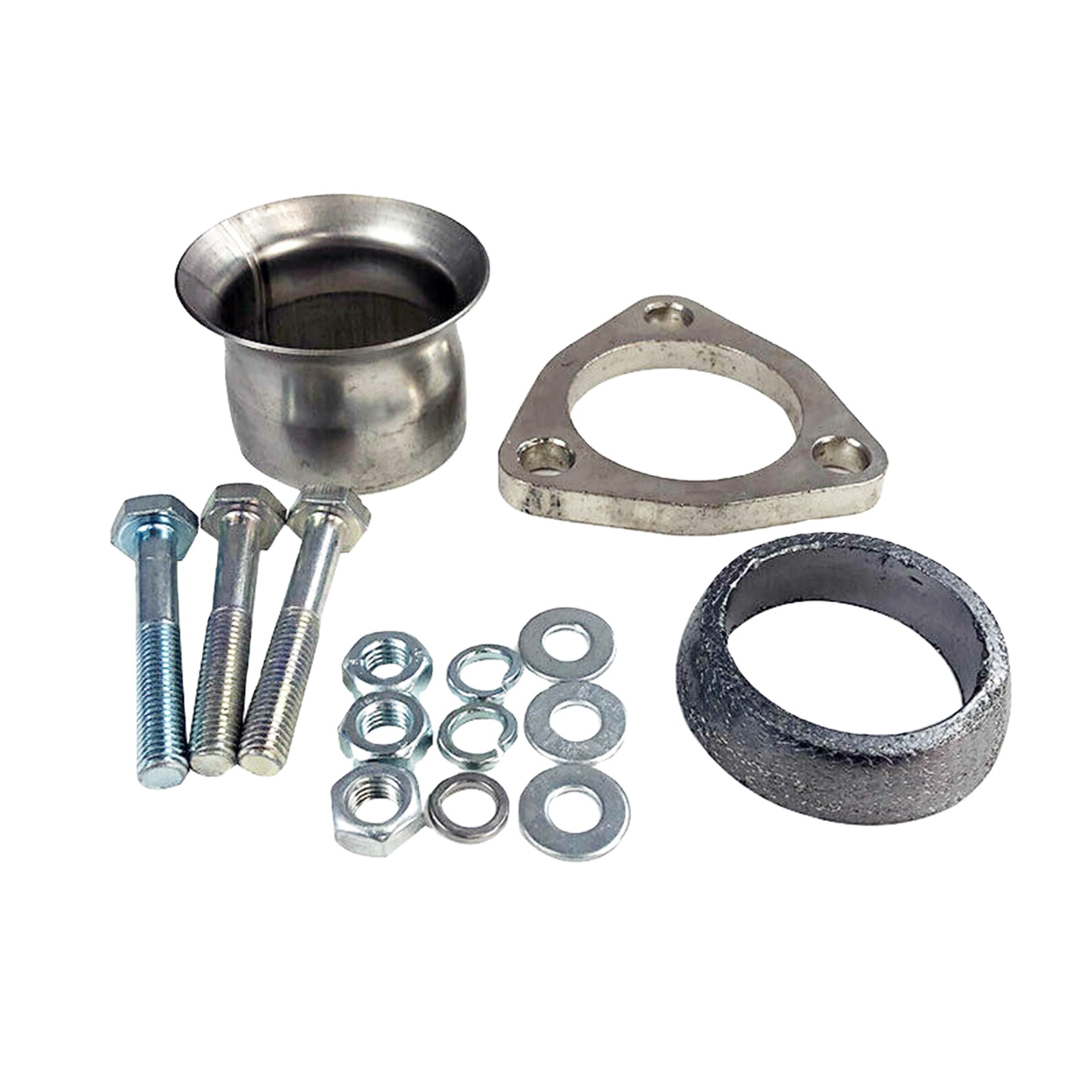 new 2 1 4 semi direct fit exhaust flared y pipe triangle flange repair kit buy flange repair kit exhaust flared 2 1 4 semi direct fit product on