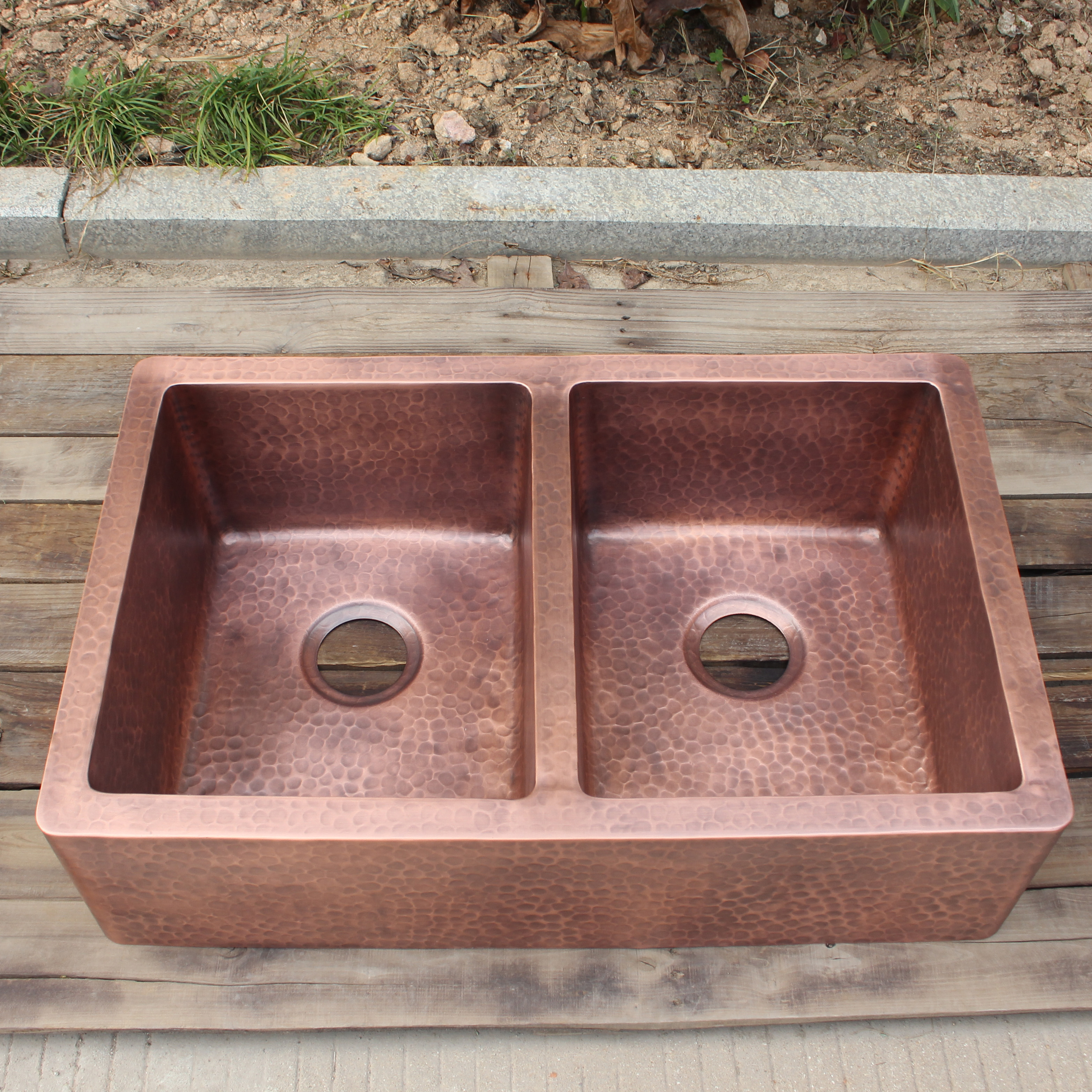 hand hammered copper farmhouse sink light hammered kitchen copper sink with double bowl design buy hand hammered farmhouse sink kitchen sink copper