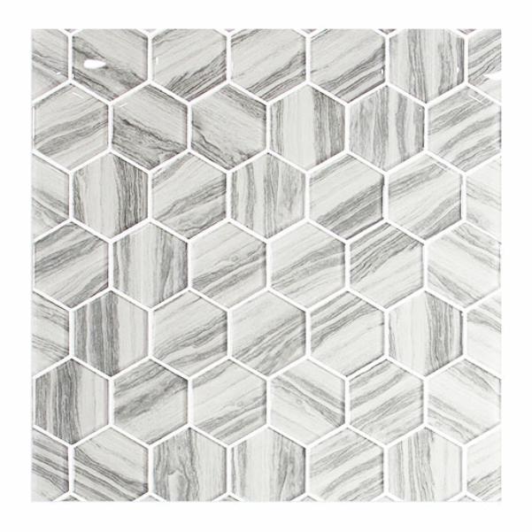 white hexagon wall tiles 3d inkjet printed wall floor tiles wood look kitchen backsplash mosaic glass tile buy 3d inkjet printed bathroom wall floor tiles wholesale kitchen backsplash tiles 3d mosaic glass