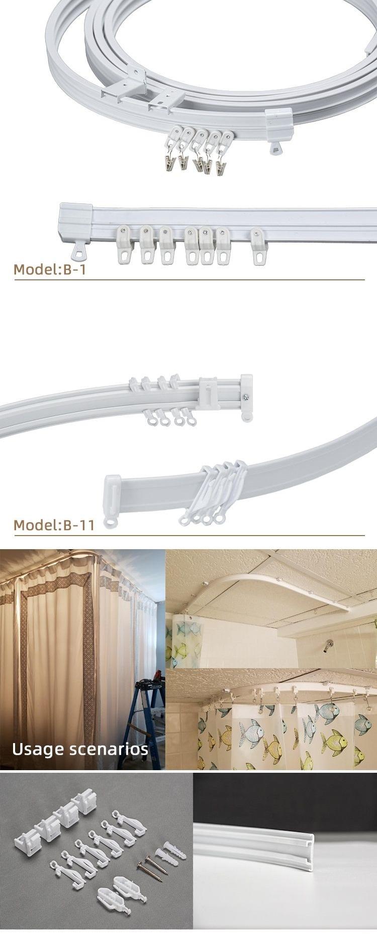 pvc round flexible ceiling curtain rail curtain track glider plastic ceiling mount curtain track amazon ebay hot seller buy amazon ebay hot seller